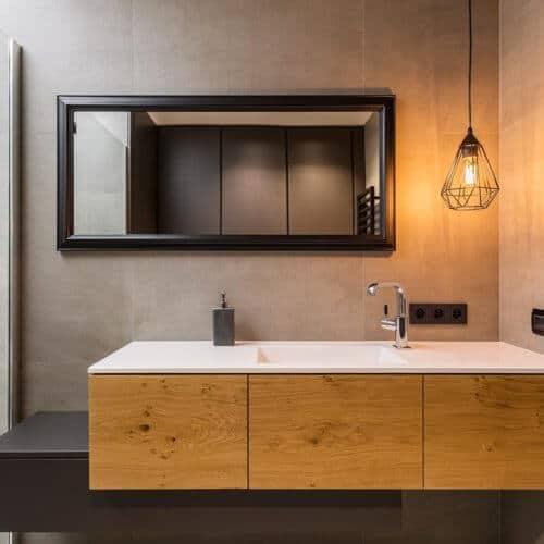 Badezimmer mit Wohlfühl ambiente