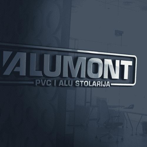 Alumont Logo Auf wand